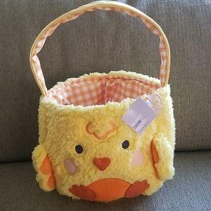 NWT Plush Easter Egg basket
